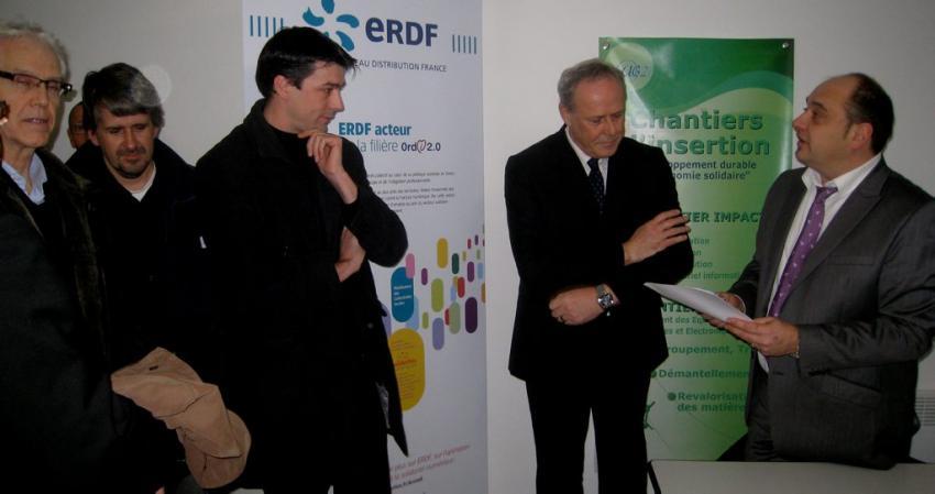 Lors de la signature de la convention entre ERDF et AG2I (Photo DDM, J.-P.D.G.)