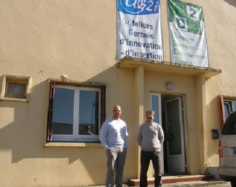M. Batel et Hnaka, responsables du site  de Fleurance. (PHOTO Ch. B., La dépêche)